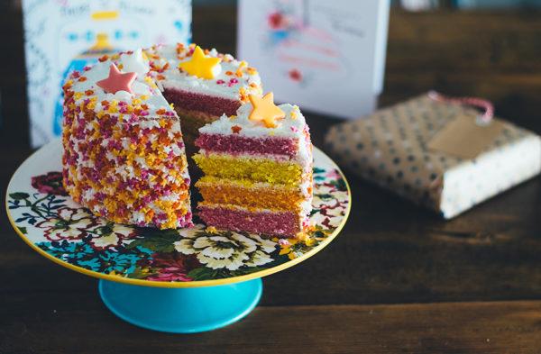 colors cake fete des meres